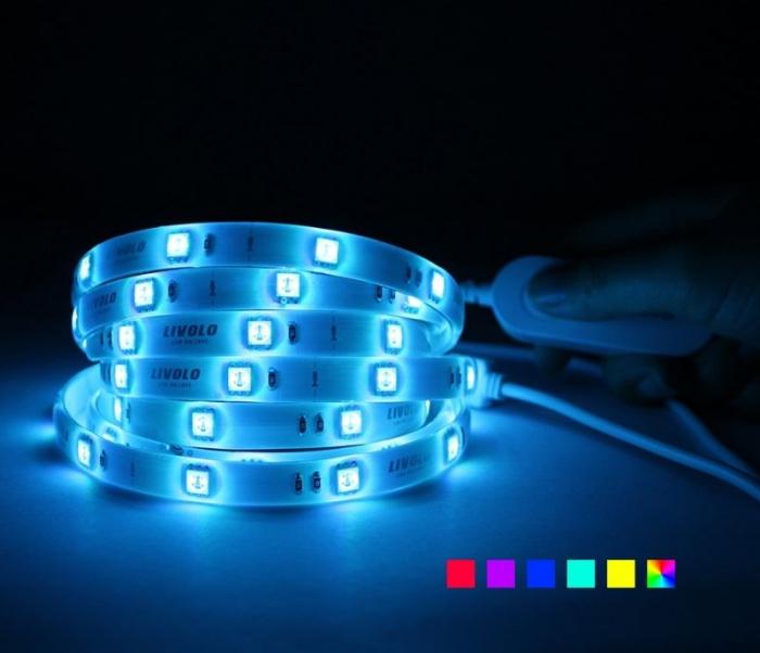 Banda LED Smart 2m, WiFi, 5050 RGB Livolo 0