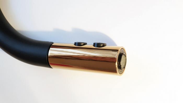Baterie CookingAid STANDARD BLACK/COPPER negru mat/cupru cu furtun dus retractabil / extractibil + buton interschimbabil jet/dus si finisaj antiamprenta [1]