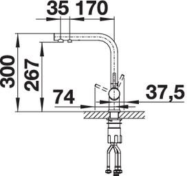 Baterie chiuveta BLANCO FONTAS II silgranit, cu circuit apa filtrata [5]