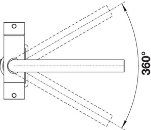 Baterie chiuveta BLANCO FONTAS S II Filter din inox, cu circuit apa filtrata si cap extractibil 8