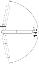 Baterie chiuveta Blanco LINUS-S negru mat cu dus extensibil [5]