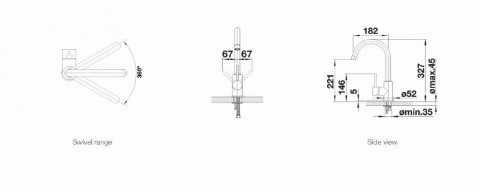 Baterie chiuveta Blanco MIDA inox 2