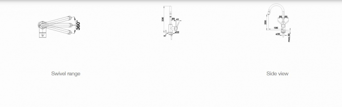 Baterie chiuveta Blanco MIDA-S inox cu dus extractibil [2]