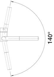 Baterie chiuveta bucatarie Blanco LINUS-S-F pentru montaj in fata ferestrei cu dus extensibil [5]