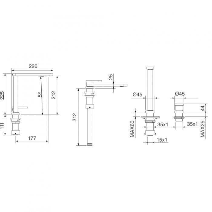Baterie CookingAid Box QS 3000 telescopica / corp retractabil Active Window / ideala pentru montaj sub geam 2