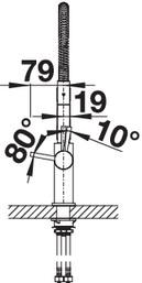 Baterie de bucatarie Blanco Catris- crome [4]
