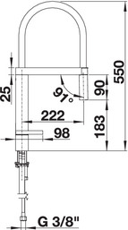 Baterie de inox chiuveta BLANCO CULINA-S pentru bucatarie [2]