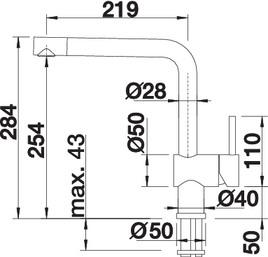 Baterie din inox pentru chiuveta bucatarie Blanco LINUS-F pentru montaj in fata ferestrei [3]