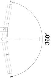 Baterie din inox pentru chiuveta bucatarie Blanco LINUS-F pentru montaj in fata ferestrei [5]