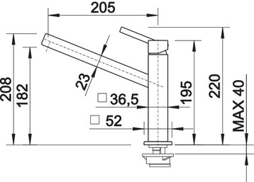 Baterie inox bucatarie Blanco QUATURA  crom 1
