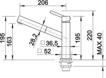 Baterie inox bucatarie Blanco Quatura -S cu dus extensibil [2]