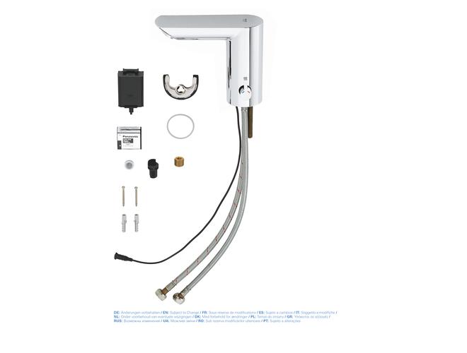 Baterie lavoar cu senzor Grohe Bau Cosmo E, cu mixare si regulator temperatura [6]