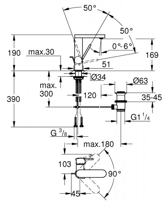 Baterie lavoar Grohe Plus size M [2]