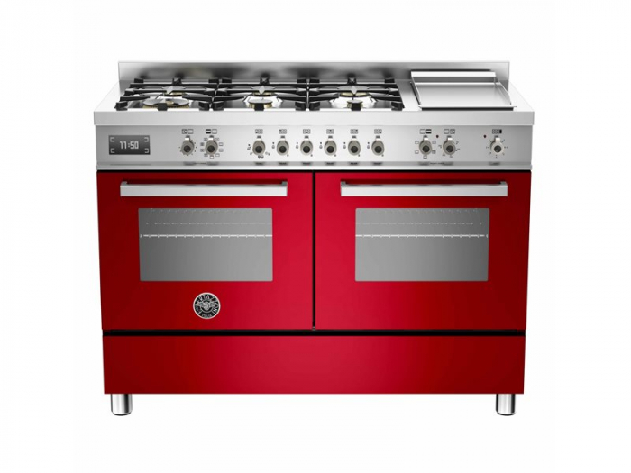 Bertazzoni Aragaz 120x60 cm cuptor electric dublu 6 arzatoare, rosudesign Professional [0]
