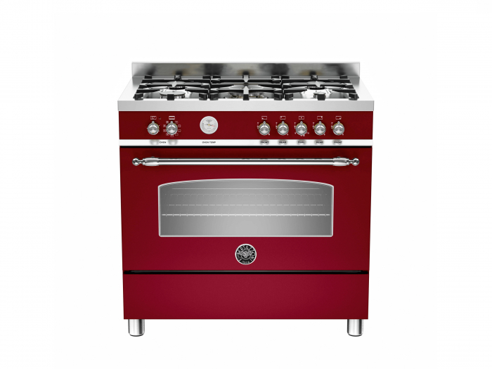 Bertazzoni Aragaz 90x60 cm Premium 5 arzatoare, cuptor electric design Heritage [0]