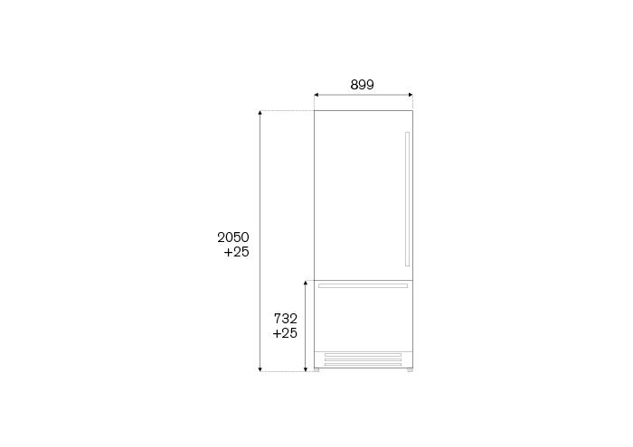 Bertazzoni Combina frigorifica incorporabila 90 cm Inox design Neutral [1]