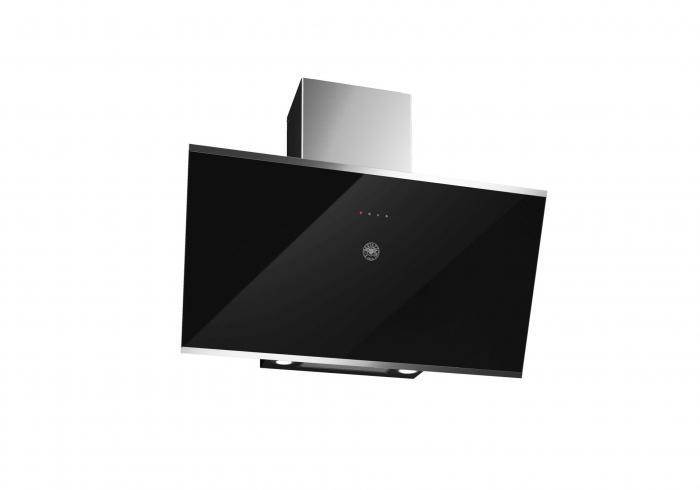 Bertazzoni Hota perete 90 cm Sticla neagra design Modern [0]