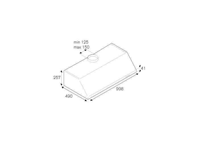Bertazzoni Hota sub corp tip semineu 100 cm Inox design Professional [1]