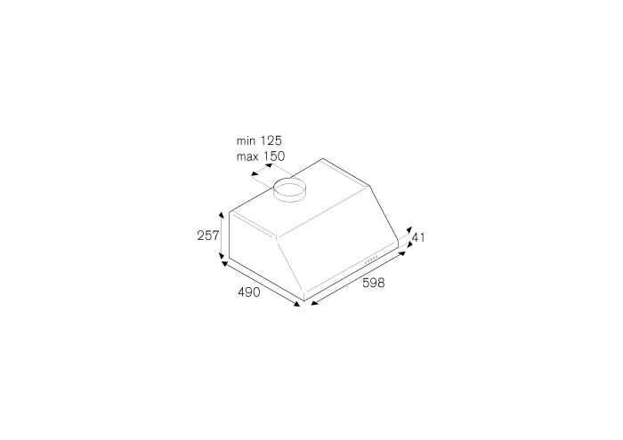 Bertazzoni Hota sub corp tip semineu 60 cm Inox design Professional [1]