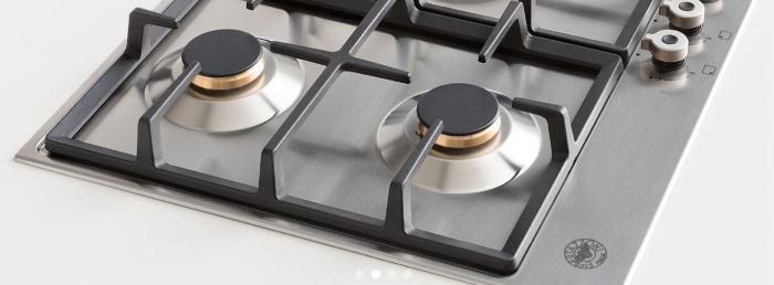 Bertazzoni Plita cu 4 arzatoare gaz, 60 cm Negru Mat design Professional [3]