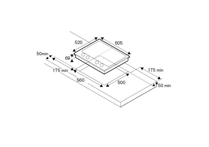 Bertazzoni Plita gaz 60 cm Segm. Inox design Professional [1]