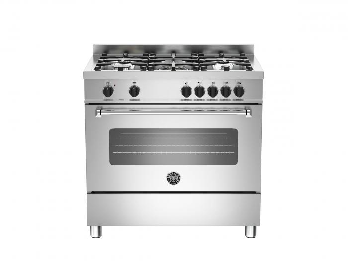 Bertazzoni Aragaz 90x60 cm Premium 5 arzatoare, cuptor electric, Inox design Master [0]