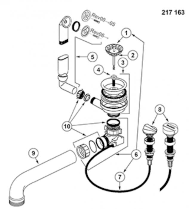 Blanco Excentric - sistem aqua stop cu buton rotativ [2]