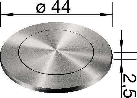 BLANCO PushControl-buton pentru sistemele de scurgere InFino cu excentric [1]