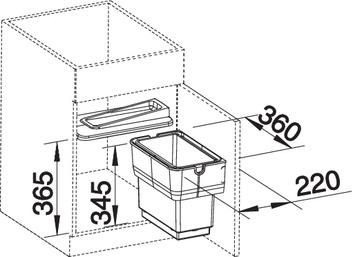 BLANCO SELECT SINGOLO-S cu separator pentru galeata de gunoi 3
