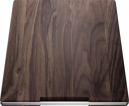 Blanco tocator din lemn masiv de nuc cu mâner din oțel inoxidabil 420 x 362 mm [2]