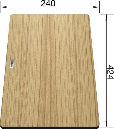 BLANCO Tocator lemn frasin 424x240 mm pentru chiuvetele subline [1]