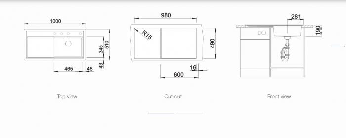 BLANCO ZENAR XL 6 S SILGRANIT PuraDur, InFino cu excentric [6]