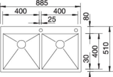 Blanco ZEROX chiuveta de bucatarie inox 400/400-IF/A cu Infino si Pushcontrol [2]