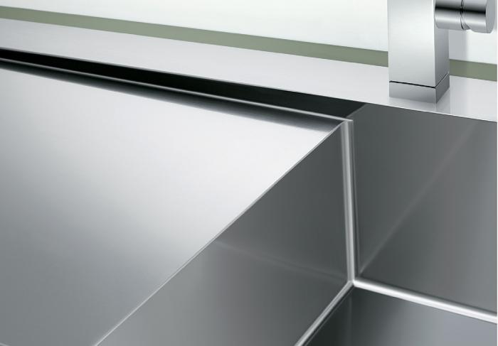 Chiuvetă Blanco Claron 8 S-IF 116x51cm, oțel inoxidabil, cuva dreapta, PushControl [1]