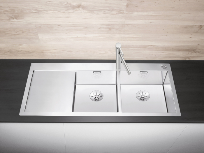 Chiuvetă Blanco Claron 8 S-IF 116x51cm, oțel inoxidabil, cuva dreapta, PushControl [2]