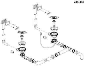 Chiuvetă Blanco Claron 8 S-IF 116x51cm, oțel inoxidabil, cuva dreapta, PushControl [4]