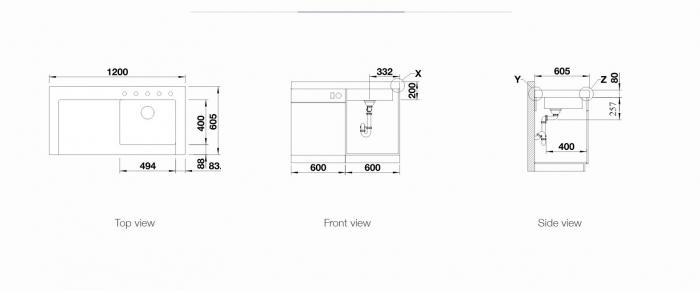 Chiuveta BLANCO MODEX M 60 SILGRANIT® PuraDur® cu excentric [4]