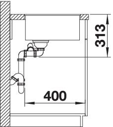 Chiuveta bucatarie BLANCO SUBLINE 340/160-U Silgranit, InFino™ integrat 3