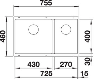 Chiuveta bucatarie BLANCO SUBLINE 480/320-U Silgranit, InFino™ integrat [1]