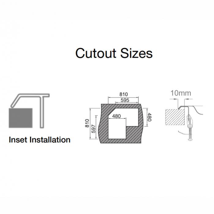 Chiuveta bucatarie cu 2 cuve inox dubla CookingAid KEPPLER BB pe colt reversibila stanga/dreapta cu picurator + accesorii montaj 11