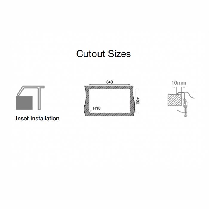 Chiuveta bucatarie cu 2 cuve inox dubla CookingAid URBAN 86BB reversibila stanga/dreapta + accesorii montaj 7