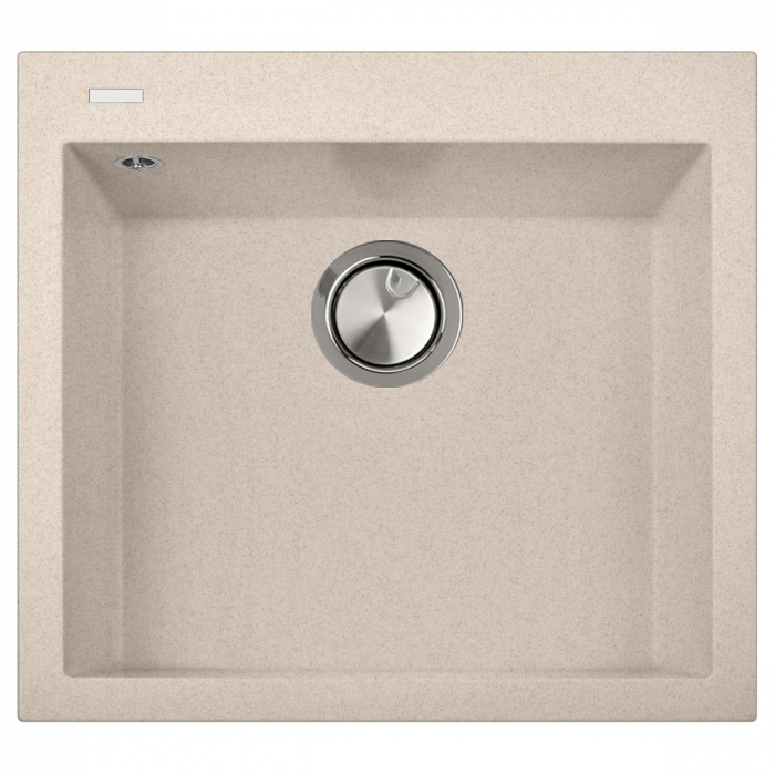 Chiuveta bucatarie granit CookingAid Cube ON5610 Bej Pigmentat / Avena + accesorii montaj  0
