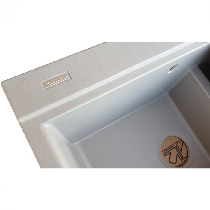 Chiuveta bucatarie granit dubla cu 2 cuve CookingAid Kinga LX8620 Maro Trufa / Truffle + accesorii montaj [6]