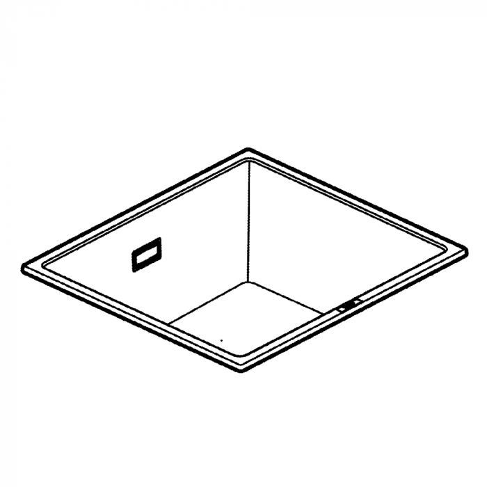 Chiuveta bucatarie granit Grohe K700, 47X41 cm, o cuva, montaj sub blat sau pe blat [6]