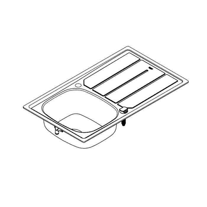 Chiuveta bucatarie Grohe K200 din inox, reversibila cu excentric [5]