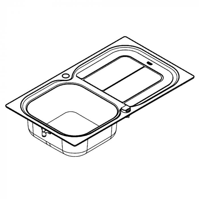 Chiuveta bucatarie Grohe K300 din inox cu mecanism automat de scurgerey [1]