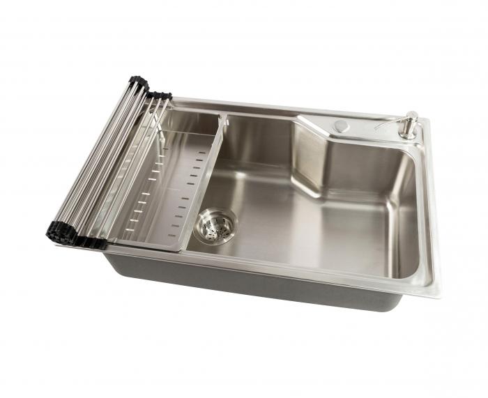 Chiuveta bucatarie inox CookingAid ATHENA XL si accesorii montaj 0