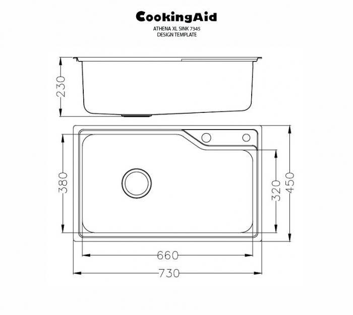 Chiuveta bucatarie inox CookingAid ATHENA XL si accesorii montaj 7