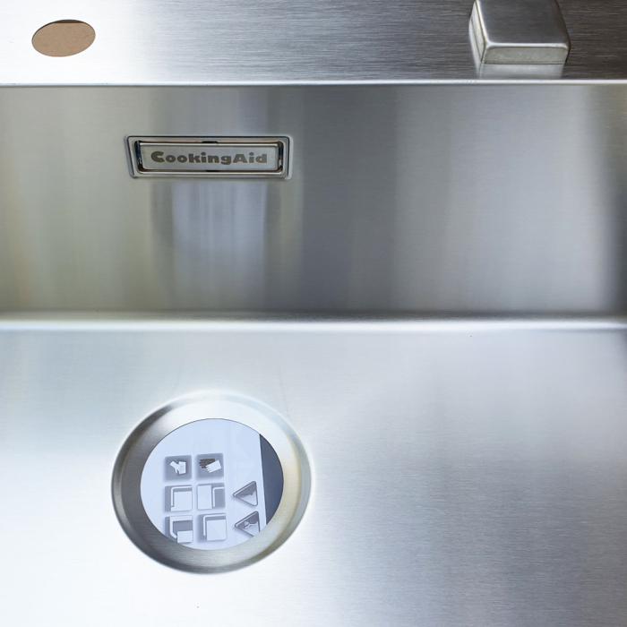Chiuveta bucatarie inox CookingAid BOX LUX 76 cu ventil automat scurgere + accesorii montaj 8