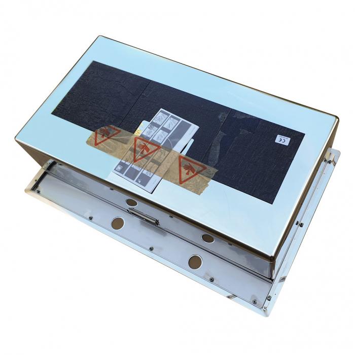 Chiuveta bucatarie inox CookingAid BOX LUX 76 cu ventil automat scurgere + accesorii montaj 11